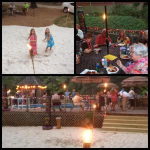 The Moonlight Luau is fun for the whole family. Come party on our private beach at Carters Nursery Pond & Patio.