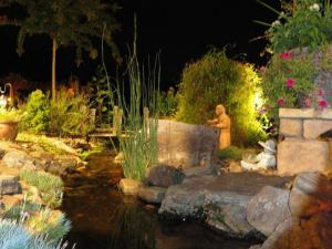 The nighttime garden is a magical world.