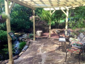 Outdoor Lifestyle Areas allow you to really enjoy the backyard. A Pond, Patio, grill and garden area to get comfy is the Ultimate! Carters Nursery, Pond & Patio Jackson Tn 38305