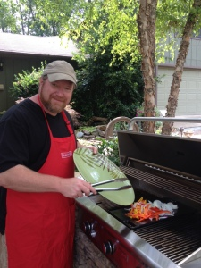 "Mark will be cooking lunch at Carters Nursery, Pond & Patio's 'Outdoor Kitchen'! ""I'm firing up the Saffire Grill & The big AOG Grill too. Y'all come""!"